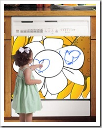 Appliance Art : Let your child's creativity flow with a dishwasher dry erase panel!