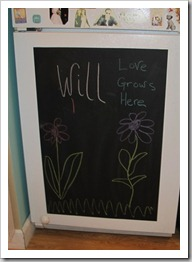 Appliance Art : Let your child's creativity flow with a dishwasher chalkboard panel!