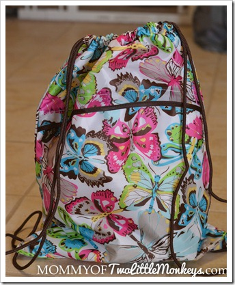 Thirty One Cinch Sac in Flutter Spring 2012 Print