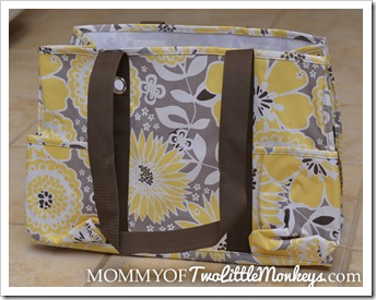 Thirty One Organizing Utility Tote Bag Awesome Blossom
