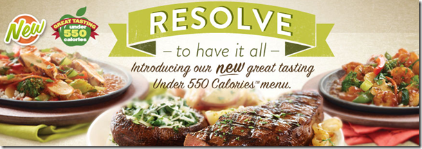 Applebee's 550 Calorie Menu Options