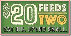 $20 Feeds Two