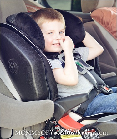 boy in britax car seat