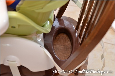 space saver high chair with rounded chairs