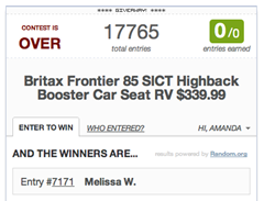 britax winner announcement