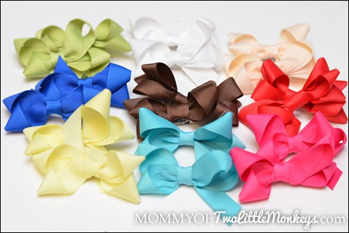 assortment of clip on bows
