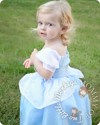 baby in princess dress