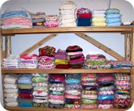 shelves for cloth diapers