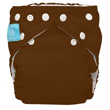 brown cloth diaper