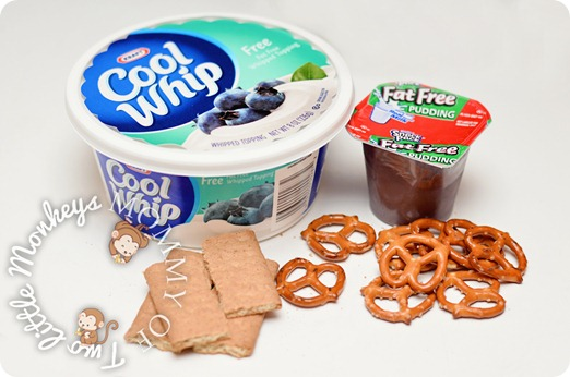 chocolate pudding pretzels graham crackers and cool whip