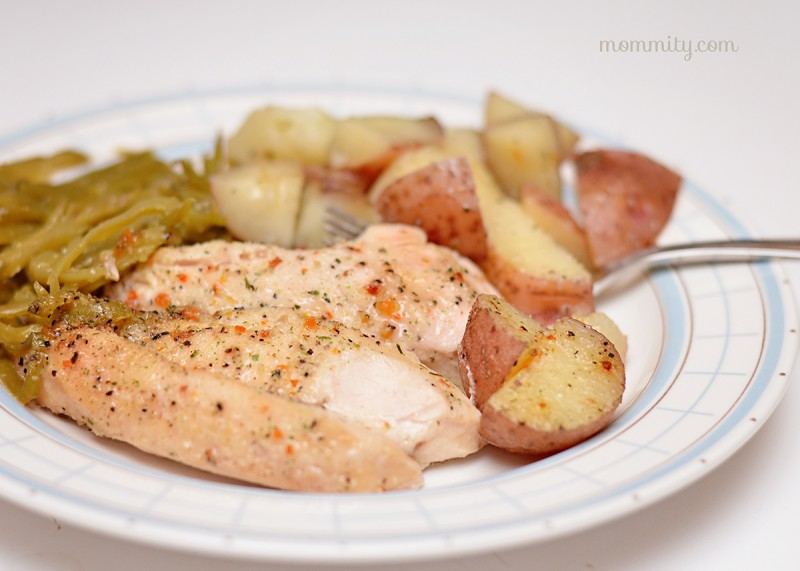 Good Seasons Italian Dressing Chicken, Green Beans & Potatoes Recipe
