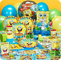 spongebob birthday party decorations