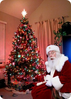 Santa Claus with Christmas Tree