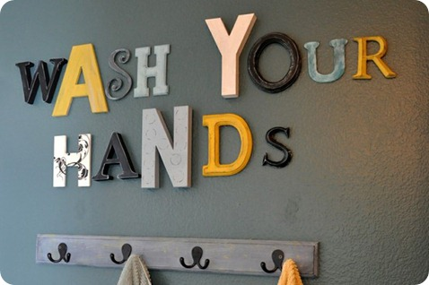 wash your hands bathroom letters
