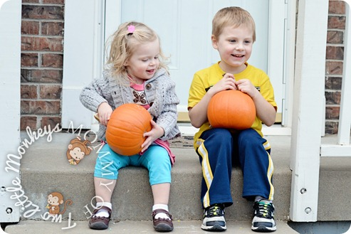 kids with pumkins