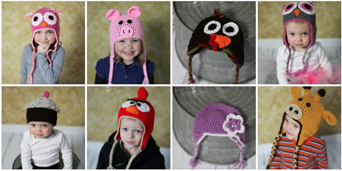 crocheted hats for kids