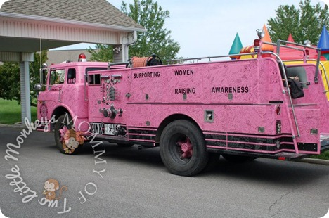breast cancer fire truck