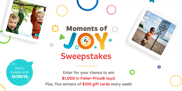 moments of joy sweepstakes