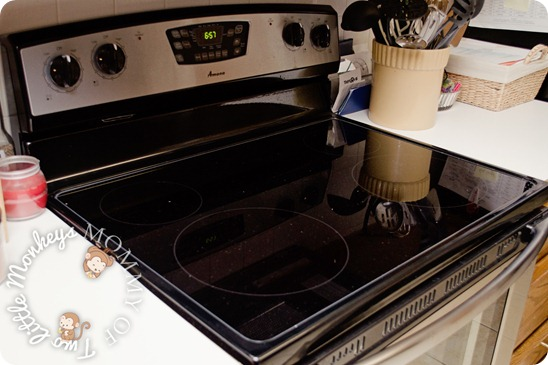 black amana stove top