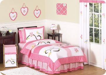 Stunning The Song Bird pc Twin Set by Jojo Designs was my first choice from the Beyond Bedding website I love the song birds the pink and everything about this