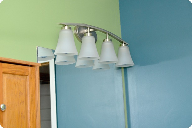 Vanity Light Bar Target : Revealing Children s Bathroom and Guest Bathroom Makeover