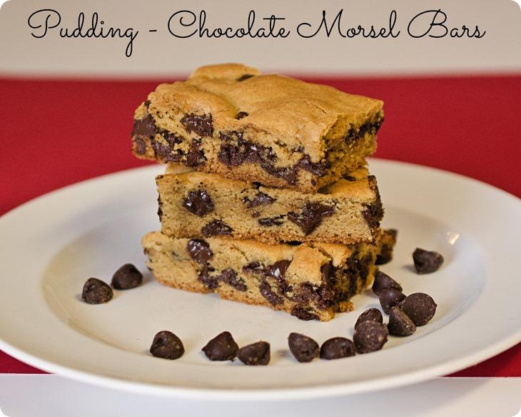 Pudding - Chocolate Morsel Bars | Peanut and Tree Nut Free | Recipe