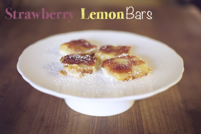 lemon recipes - Strawberry Lemon Bars