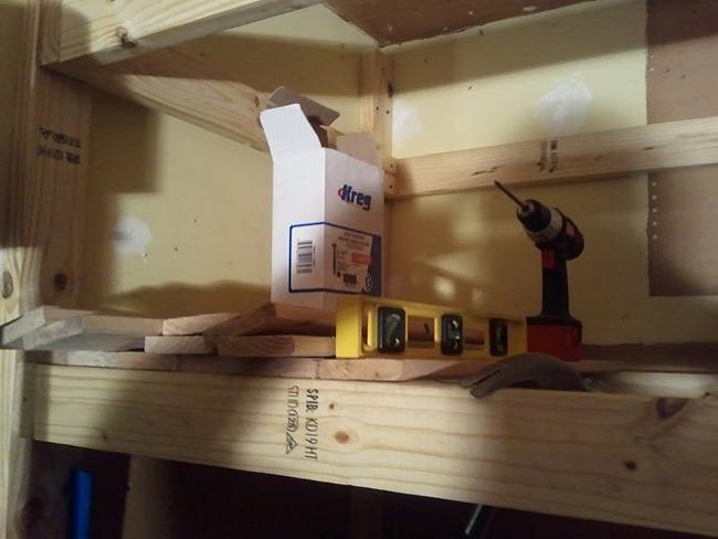 Garage Storage - Wooden Shelves