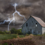 The Perfect Storm - Photography Challenge 9/365 - #oldbarn #storm #lightening