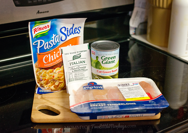 Italian Herb Chicken with Pasta - a twist on the Chicken with Italian Dressing Mix recipe