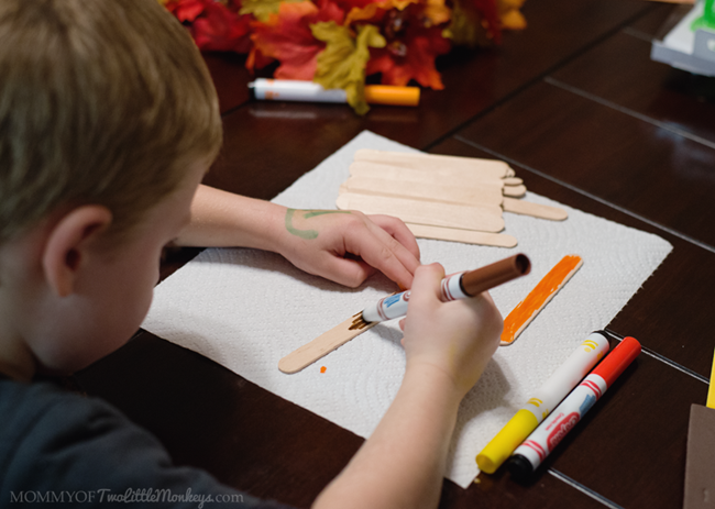 Popsicle Stick Thanksgiving Turkey