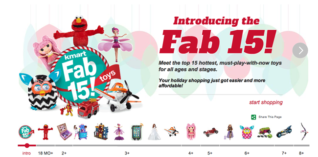 Kmart Fab 15 Hottest Toy List
