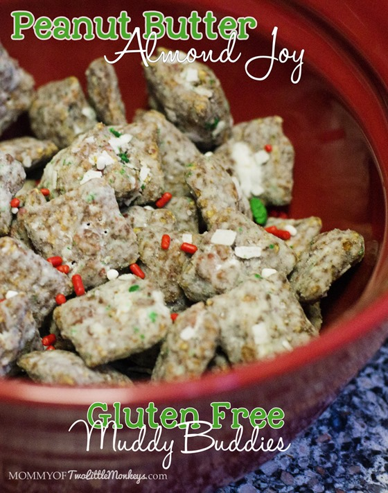 Peanut Butter Almond Joy Gluten Free Muddy Buddies