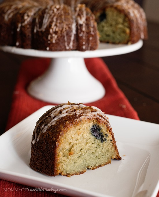 Nut Free Blueberry Coffee Cake with Greek Yogurt