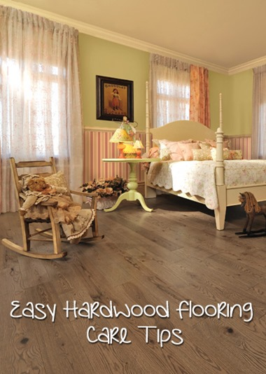 Easy Hardwood Flooring Care Tips - Cute Girl Bedroom featuring Teddy Bear color hardwood floor