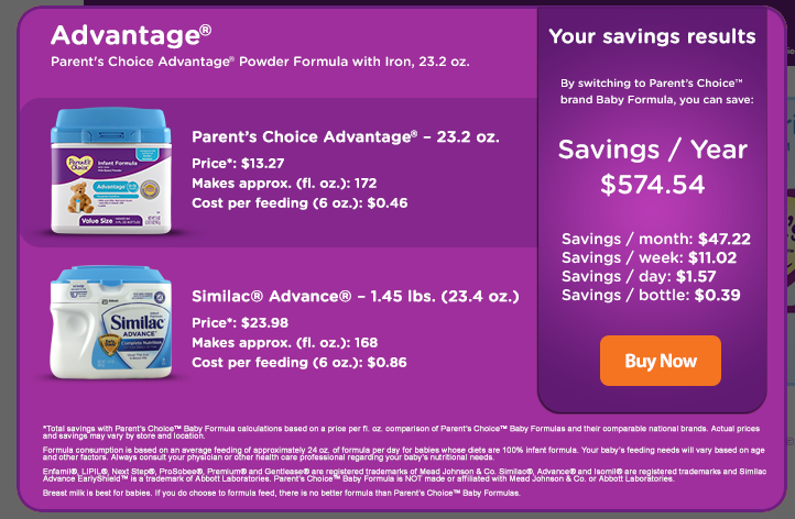Give Your Baby the Best & Save Money with Parent's Choice
