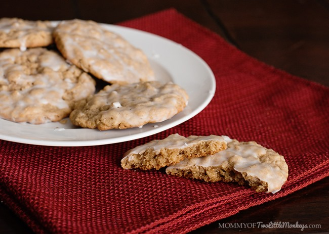 Iced Oatmeal Cookies Recipe - Peanut and Tree Nut Free!