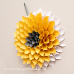Paper Dahlia Wreath Tutorial for Spring