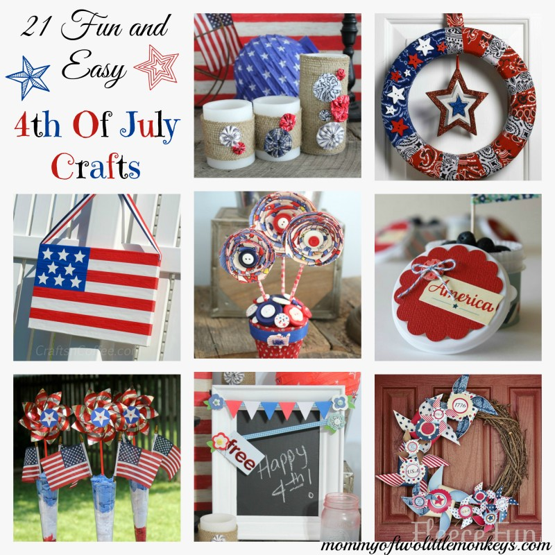 21 Fun & Easy 4th of July Crafts
