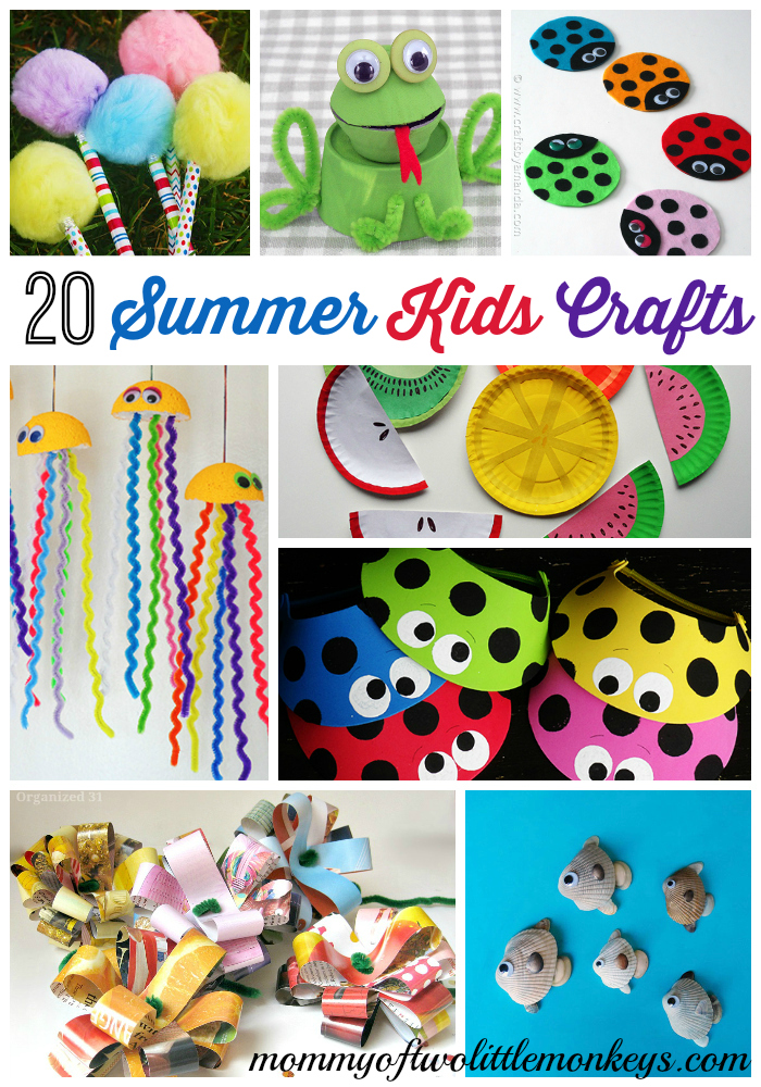 20 summer diy kids crafts awesome boredom busters for Awesome crafts for kids