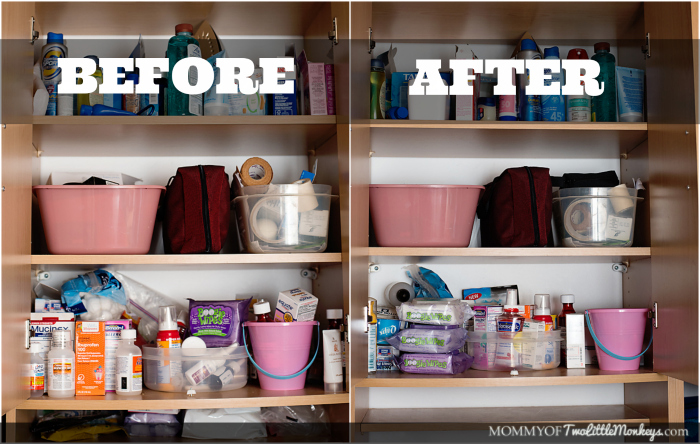 Medicine Cabinet Makeover Before & After - Tips for Allergy Sufferers