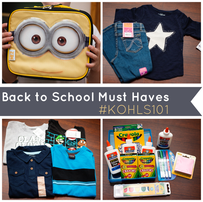 Back to School Must Haves from Kohls #Kohls101