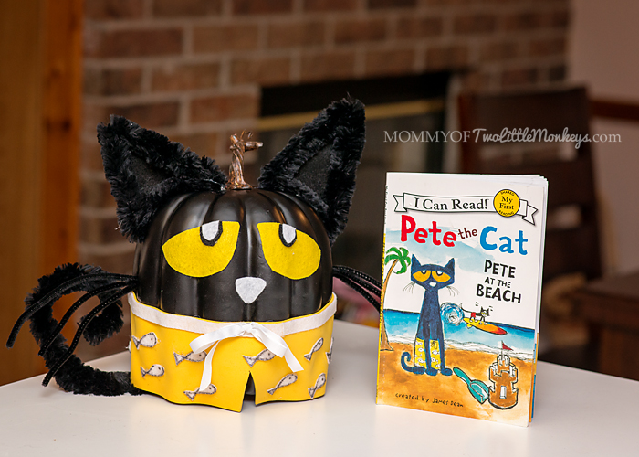 Pete the Cat - No Carve Pumpkin Decorating