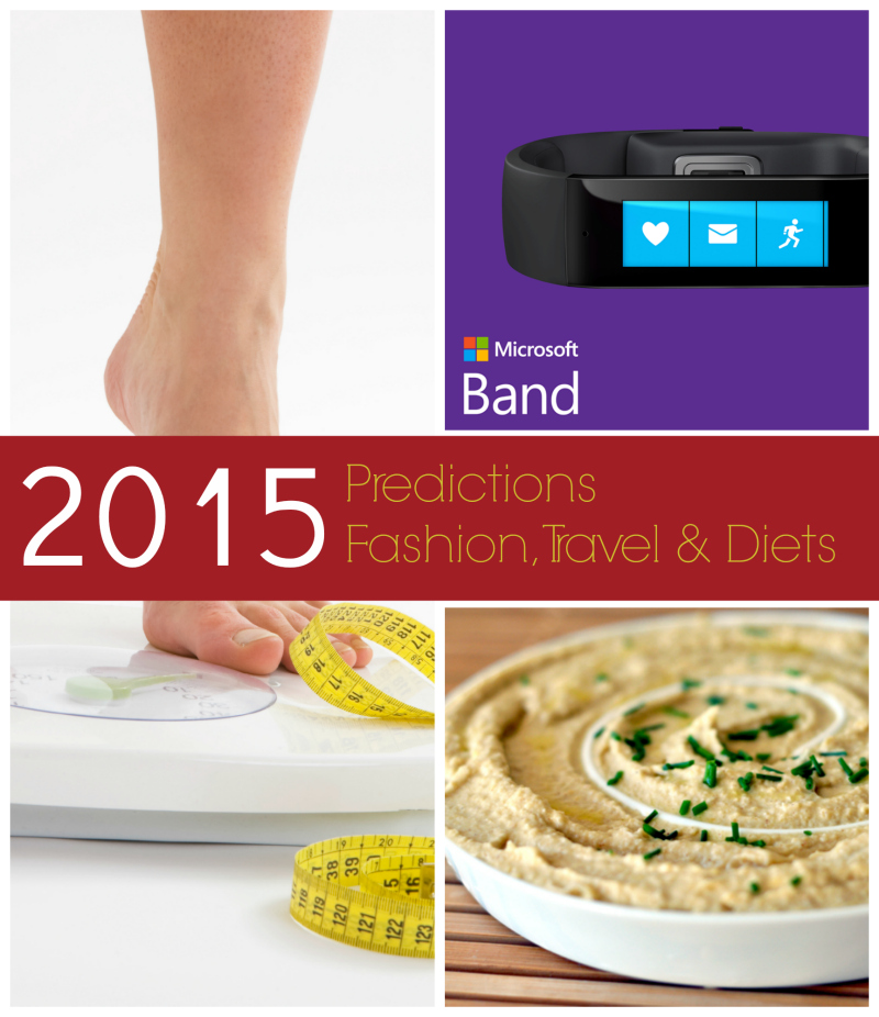 Predictions for 2015 - Fad/Diets, Fashion and Travel