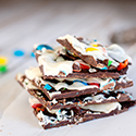 Chocolate M&Ms Bark