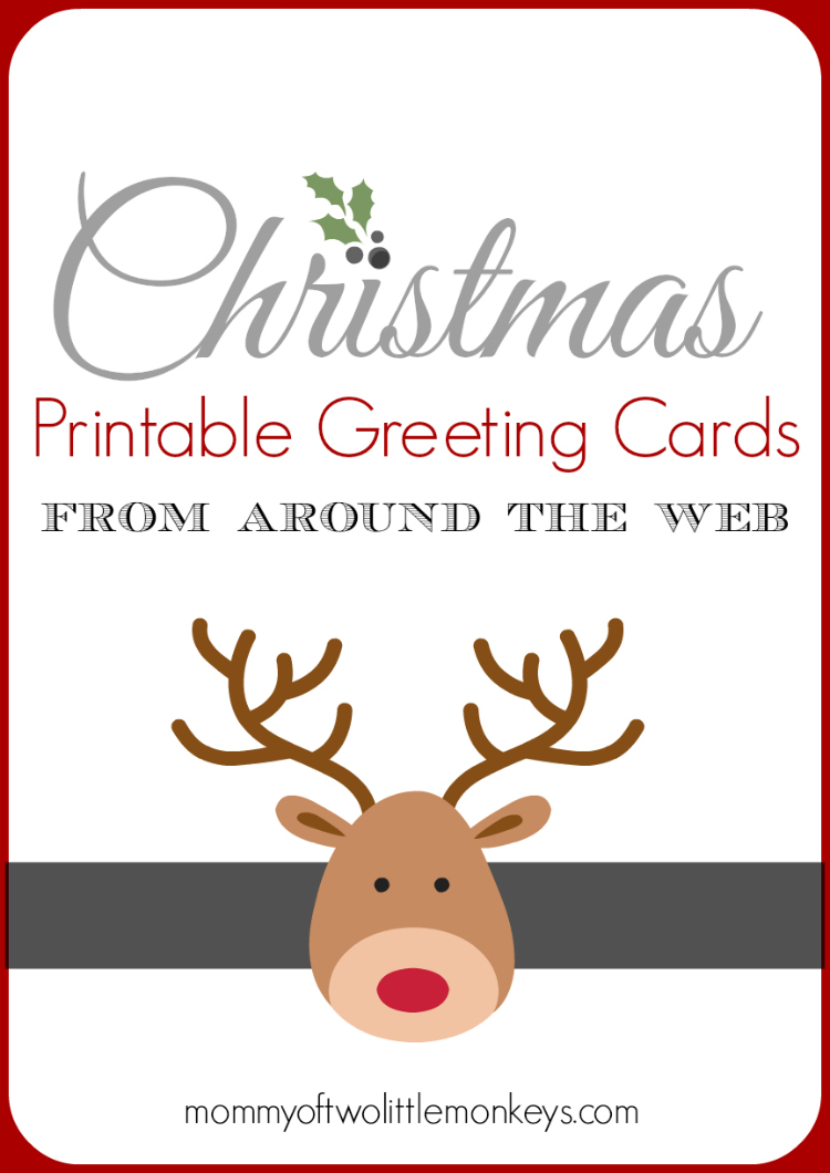Christmas Printable Greeting Cards From Around the Web