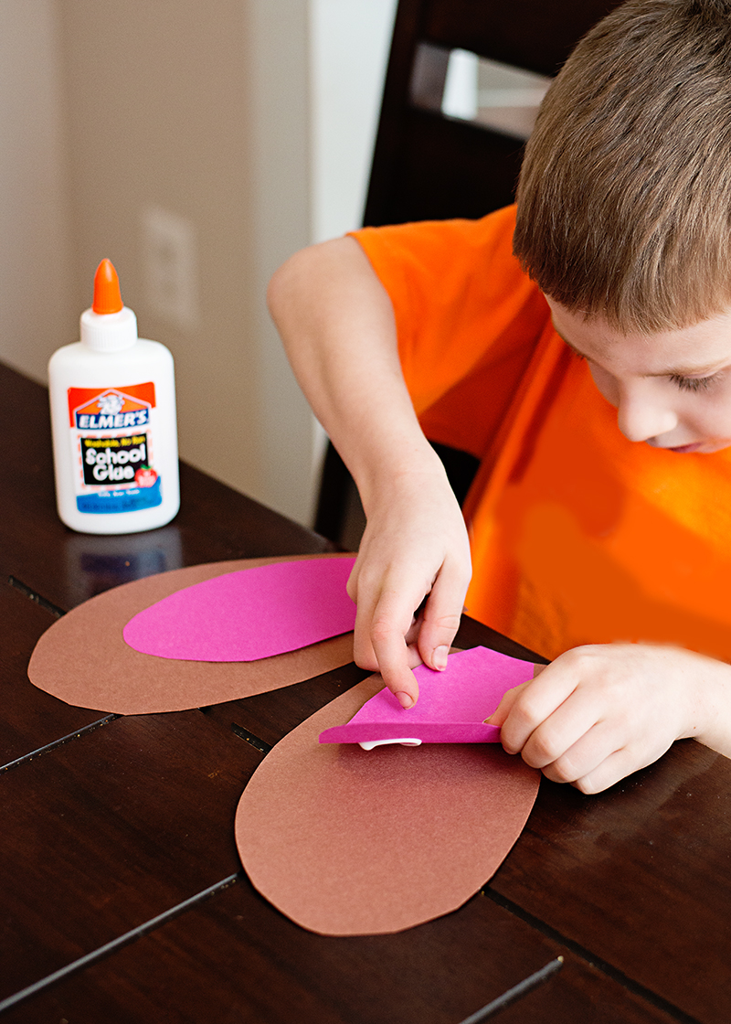Fluffy Easter Bunny Ears Kid's Craft Project - A fun way to practice fine motor skills and to craft with your children!
