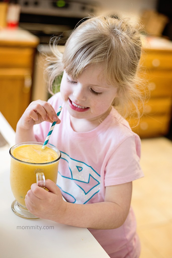 Perfect for a warm summer day, this mango banana smoothie is sure to hit the spot!