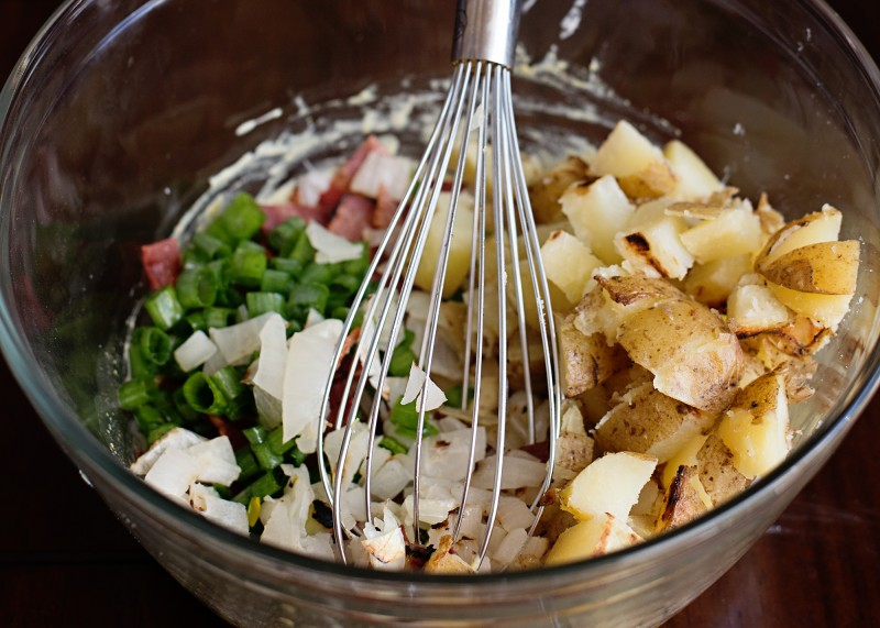 Grilled Potato Salad with Bacon & Mustard Dressing. This recipe will be a hit at your next barbeque!