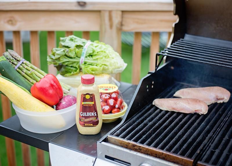 Roasted Vegetable & Grilled Chicken Salad Wrap